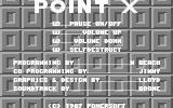 Point X Commodore 64 Title Screen.