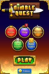 Nimble Quest iPhone Title/menu screen.