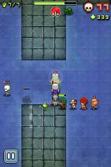 Nimble Quest iPhone A maxed out party of 7 heroes in the sewers.