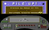 Pile-Up! Commodore 64 Title Screen.
