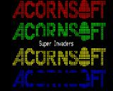 Super Invaders BBC Micro Title screen