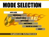 Crazy Taxi GameCube The mode screen is identical to the windows version!