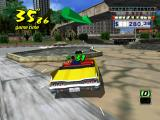 Crazy Taxi GameCube Avoid the fountain.