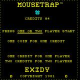Mouse Trap Arcade Title Screen.