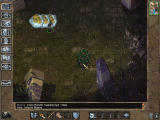 Baldur's Gate II: Throne of Bhaal Windows Your first confrontation - romantic mood, rain, weird self-splitting crazy spawn of Bhaal, all that...
