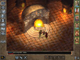 Baldur's Gate II: Throne of Bhaal Windows Facing the head of the monk order in his great-looking throne room