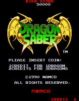 Dragon Saber: After Story of Dragon Spirit Arcade Title Screen.