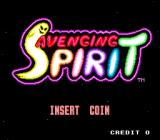 Avenging Spirit Arcade Title Screen.