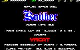 Knither: Demon Crystal II Sharp X1 Title screen