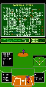 Baseball Stars Arcade The first pitch.