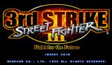 Street Fighter III: 3rd Strike Arcade title screen