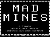 Mad Mines TRS-80 Title screen