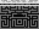 Puckman ZX81 Game over