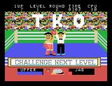 Champion Boxing Arcade The winner.