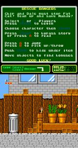 Chip 'N Dale: Rescue Rangers Arcade Touching a cactus will lose a heart.