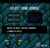 Cyber Sled Arcade Select Your Course.