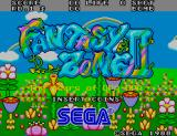 Fantasy Zone II Arcade Title Screen.