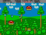 Fantasy Zone II Arcade Colourful forest.