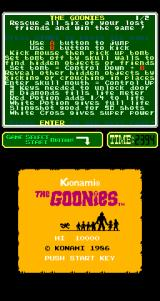 The Goonies Arcade Title Screen.