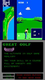 Great Golf Arcade Adjusting your stance.