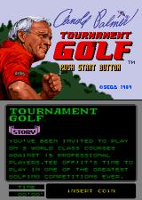 Arnold Palmer Tournament Golf Arcade Title Screen.