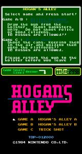 Hogan's Alley Arcade Title Screen.
