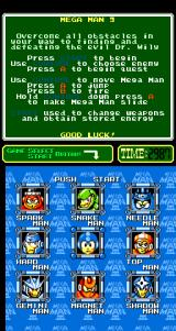 Mega Man 3 Arcade Stage Select.