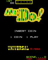Mr. Do! Arcade Title Screen.