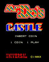 Mr. Do!'s Castle Arcade Title Screen.