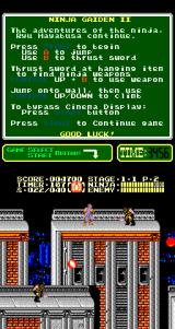 Ninja Gaiden II: The Dark Sword of Chaos Arcade Two to kill.
