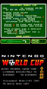 Nintendo World Cup Arcade Title Screen.