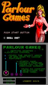Parlour Games Arcade Title Screen.