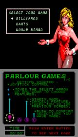 Parlour Games Arcade Select your game.