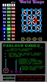 Parlour Games Arcade Number 5 highlighted.