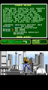 Power Blade Arcade The hero.