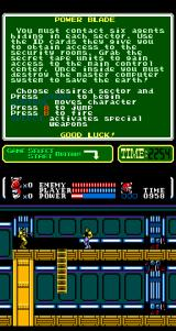 Power Blade Arcade Shoot the soldier.