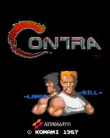 Contra Arcade Title screen
