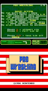 Pro Wrestling Arcade Title Screen.