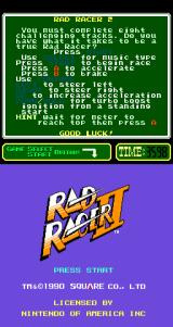 Rad Racer II Arcade Title Screen.