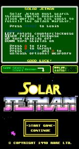 Solar Jetman: Hunt for the Golden Warpship Arcade Title Screen.