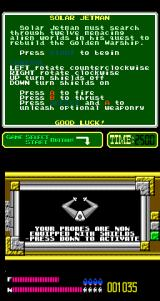 Solar Jetman: Hunt for the Golden Warpship Arcade Equipped with shields.