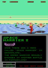 Space Harrier II Arcade Running on foot.