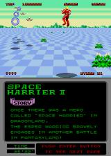 Space Harrier II Arcade Flying and fighting.