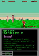 Space Harrier II Arcade Next area.