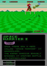 Space Harrier II Arcade Here comes the aliens.