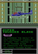 Super Thunder Blade Arcade Off to battle.