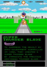 Super Thunder Blade Arcade Blast everything.