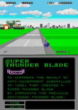 Super Thunder Blade Arcade Mid stage boss.