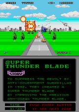 Super Thunder Blade Arcade Destroyed the boss. On we go.