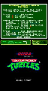 Teenage Mutant Ninja Turtles Arcade Title Screen.